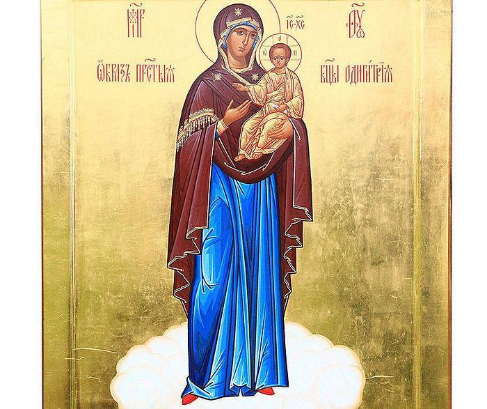 """Икона Мајке Божије """"Одигитрија Вјаземска-Ратна"""", фотографију је доставила прес-служба Спасо-Богородичиног манастира"""