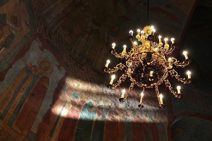 фрески храма Рождества Пресвятой Богородицы Пафнутьева Боровского монастыря 1640г
