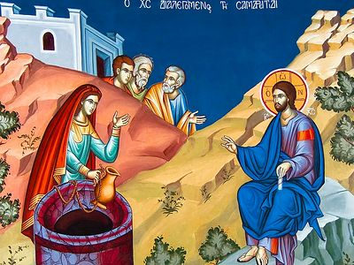 Всенощное бдение в Сретенском монастыре накануне Недели 5-й по Пасхе, о самаряныне