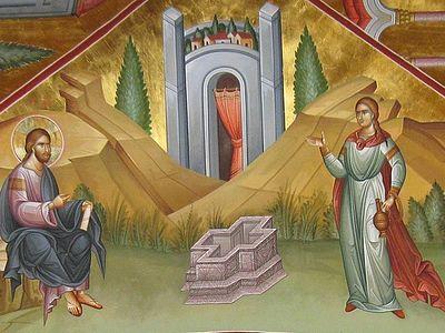Божественная литургия в Сретенском монастыре в Неделю 5-ю по Пасхе, о самаряныне