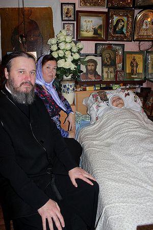Протоиерей Олег Воробьев у матушки Феодосии