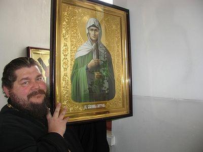В Зеленодольском храме на стене отпечатался образ святой блаженной Матроны