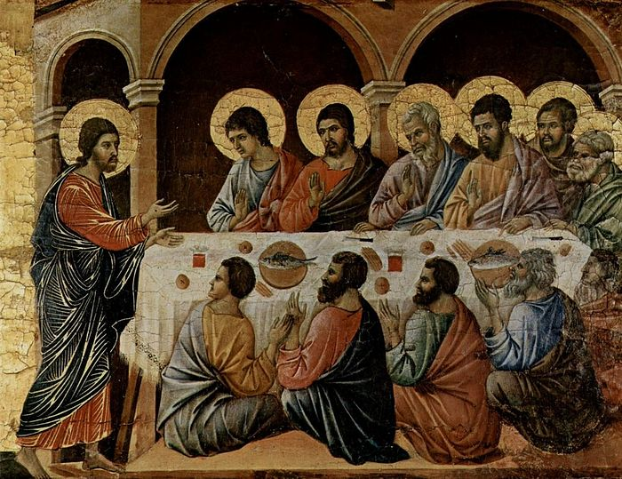 Duccio di Buoninsegna, Christ's Appearance to the Apostles, ca. 1308-1311