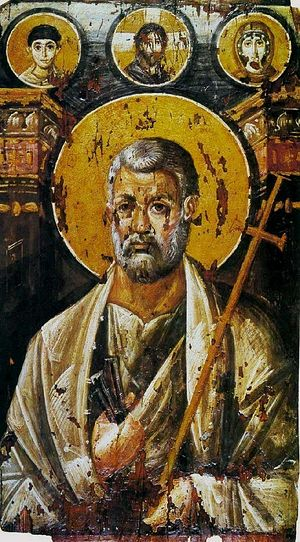 St Peter encaustic on panel, c. 6th century (Saint Catherine's Monastery)