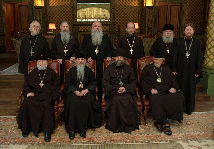 Участники переговоров о воссоединении РПЦ и РПЦЗ