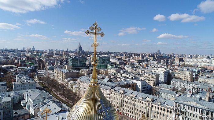 Вид на Москву с высшей точки храма