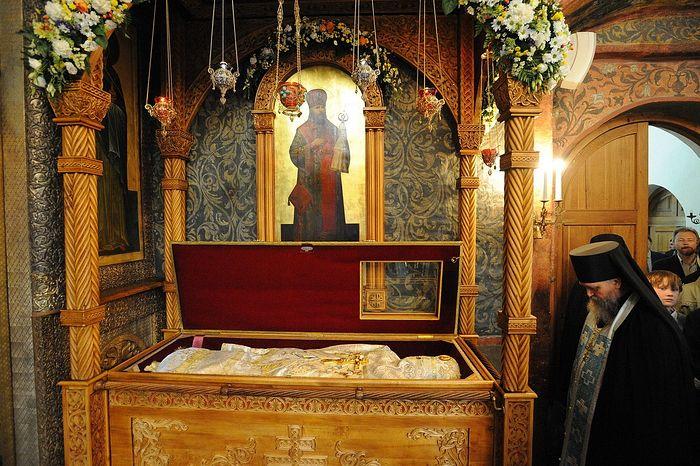 Мощи священномученика Илариона в древнем соборе монастыря