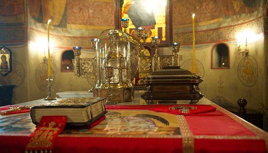 Ковчег с частицей мощей святителя Николая Чудотворца, архиепископа Мир Ликийских