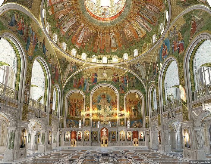 Храм Воскресения Христова и Новомучеников и Исповедников Церкви Русской. Внутреннее убранство