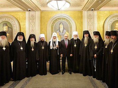 Состоялась встреча Президента России со Святейшим Патриархом Кириллом и иерархами Русской Зарубежной Церкви
