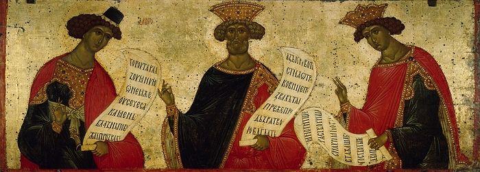 Пророки Давид, Даниил и Соломон. Россия, Кирилло-Белозерский монастырь