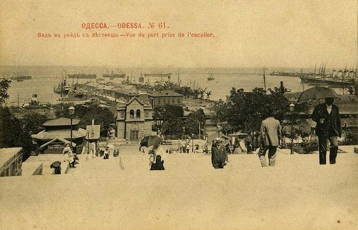 Odessa. View of the roadstead from the stairs