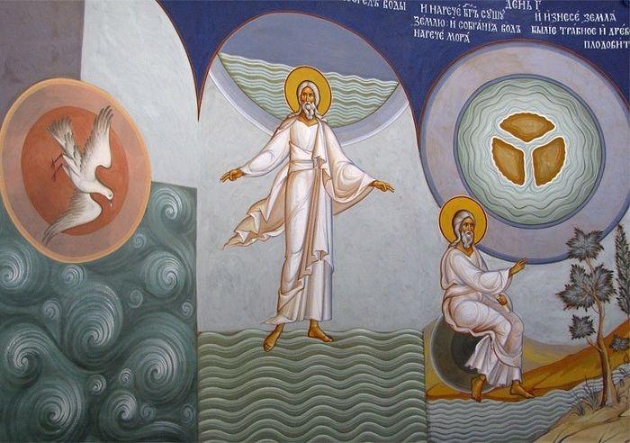 Сотворение мира. День 1,2,3. Христорождественский собор в Мытищах. Фото О. Савичева