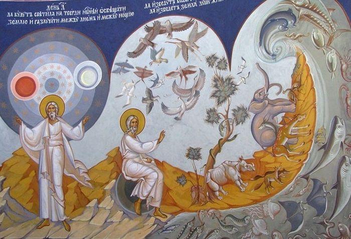 Сотворение мира. День 4,5,6. Христорождественский собор в Мытищах. Фото О. Савичева
