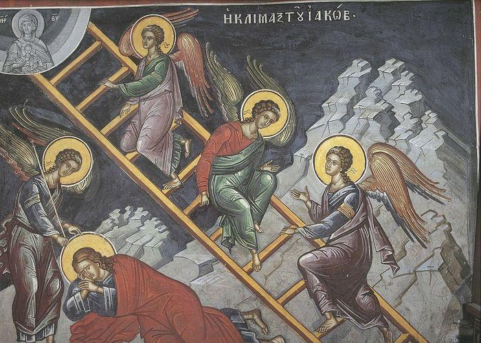 Лестница Иакова. Монастырь Дионисиат, Афон