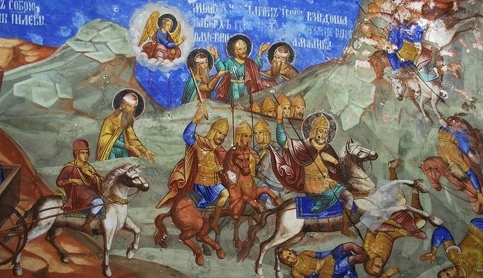 Сражение с амаликитянами. Николо-Надеинская церковь, Ярославль