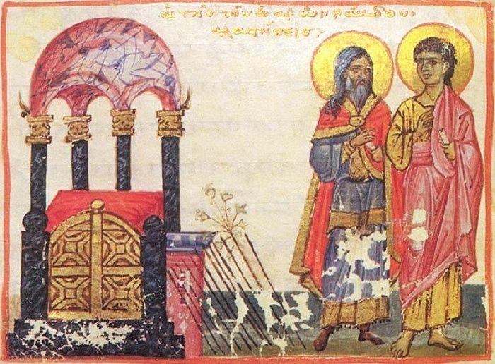 Жезл Аарона. Византийская миниатюра