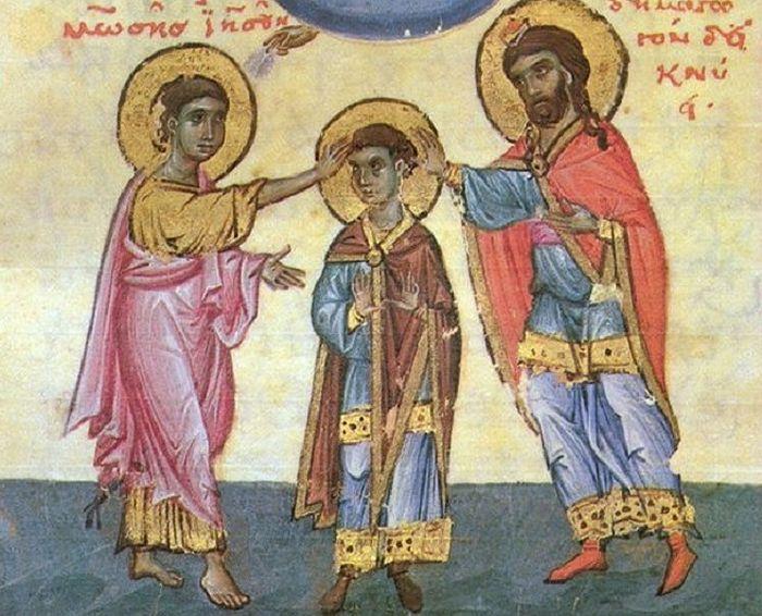 Избрание Иисуса Навина. Византийская миниатюра