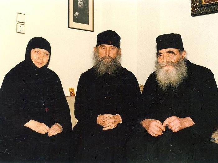 Eldress Macrina, Elder Ephraim, and Fr. Joseph.