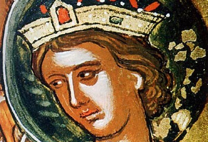 Царь Давид. Фреска (фрагмент), XVI в., Греция