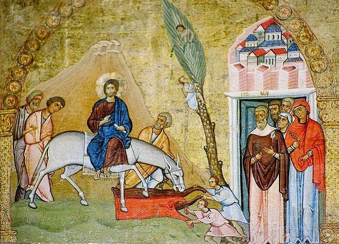 Вход Господень в Иерусалим. Синай, вторая половина XII в.