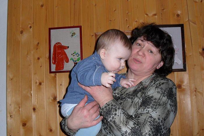Тамара с внуком