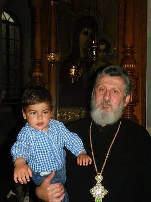 Archpriest Theodore with his grandson