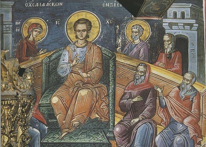 Отрок Иисус среди учителей в храме. Монастырь Дионисиат, Афон