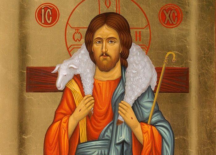 Крестная жертва Христа. Икона Пастырь Добрый