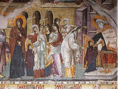 Архангел Гавриил возвещает о рождении Христа