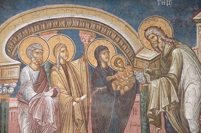 Сретение Господне. Монастырь Высокие Дечаны, Сербия
