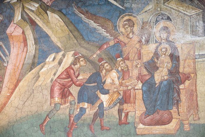 Поклонение волхвов. Монастырь Высокие Дечаны, Сербия