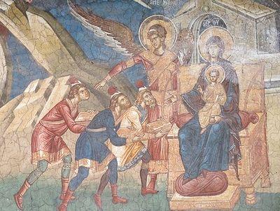 Поклонение волхвов и бегство в Египет