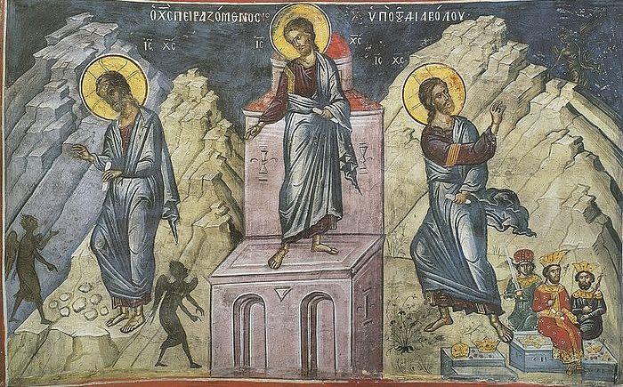 Сорокадневный пост и искушения Господа. Монастырь Дионисиат, Афон