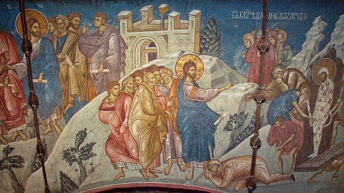 Воскрешение Лазаря. Монастырь Высокие Дечаны, Сербия