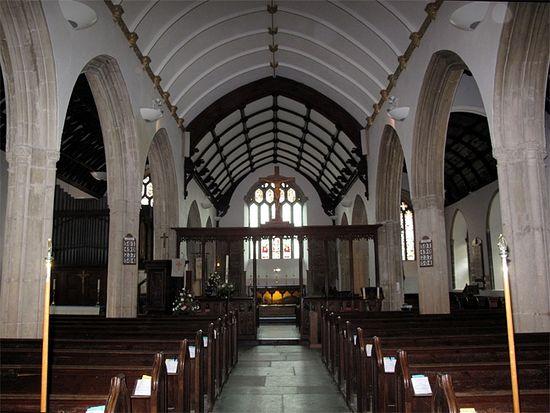 Интерьер церкви св. Петрока в Падстоу