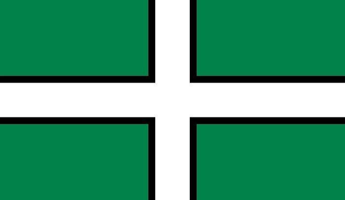 Флаг святого Петрока - официальный флаг Девона