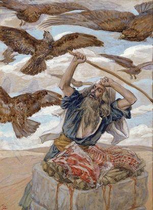 Авраам охраняет жертвоприношение. Тиссо Джеймс