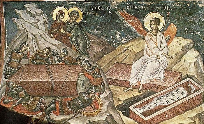 Стража у гроба Господня. Монастырь Дионисиат, Афон