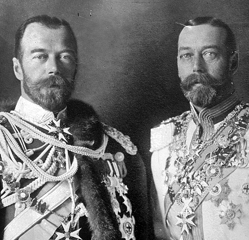 Tsar Nicholas II (left), King George V of England (right). Photo: ru.pinterest.com