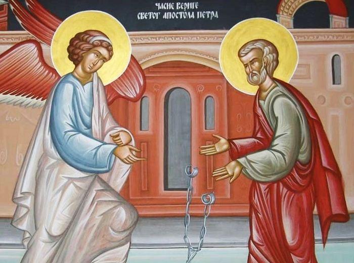 Ангел освобождает апостола Петра из темницы