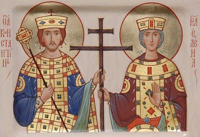 Святые равноапостольные царь Константин и царица Елена