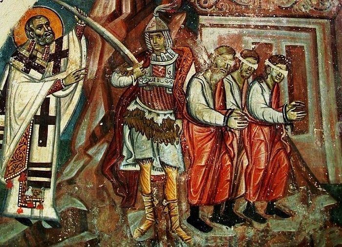 Святитель Николай спасает невинно осужденных