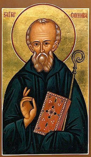 An icon of St. Columba of Iona