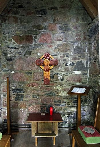Inside St. Columba's Shrine Chapel on Iona (source - Silvertraveladvisor.com)
