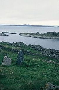 St. Eithne's supposed grave on Eileach an Naoimh, Scotland