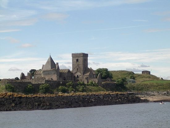 The medieval abbey on Inchcolm, Scotland