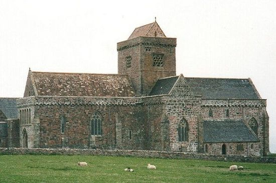 The reconstructed Iona Abbey on Iona