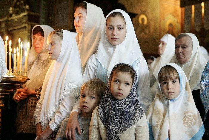 Angels look observe headcoverings shaved heads of women
