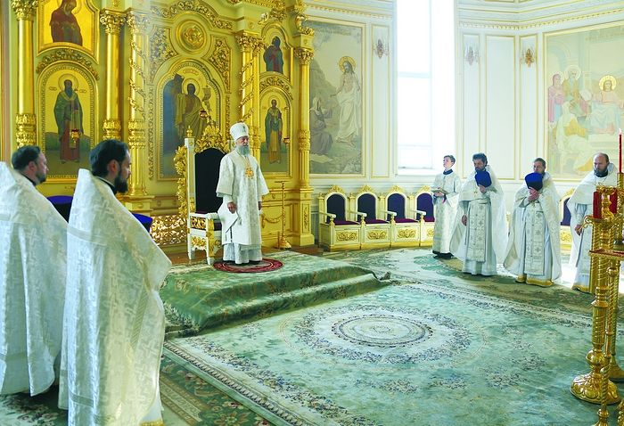 Божественная литургия в кафедральном соборе во имя святого флотоводца Феодора Ушакова